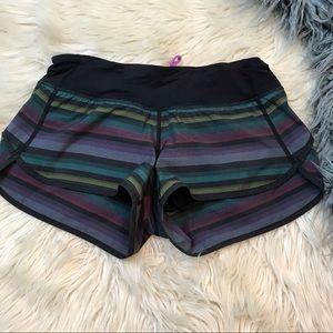 Lululemon poncho stripe speed shorts